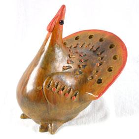 Pierced Turkey Sculpture Raymor Italy