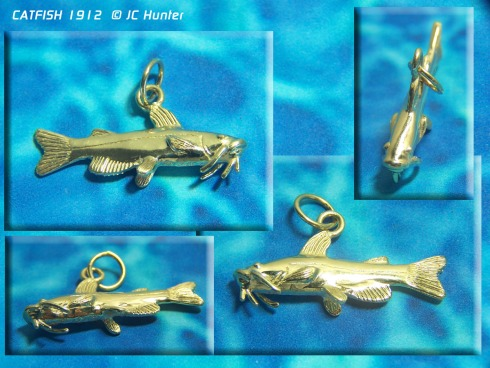 An elegant catfish charm from JC Hunter