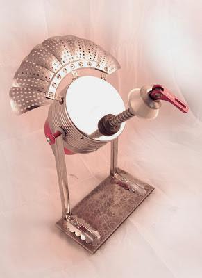 """Turkey Bot"" Metal Assemblage Turkey Sculpture by Bruce Howard"