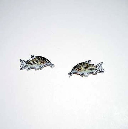 Handcrafted Corydoras earrings available on ETSY from omostudios