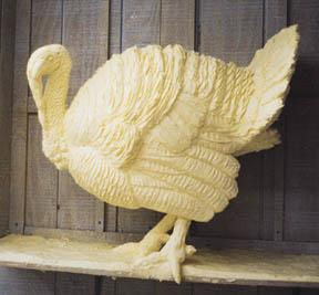 Turkey Sculpture (Jim Victor, butter)