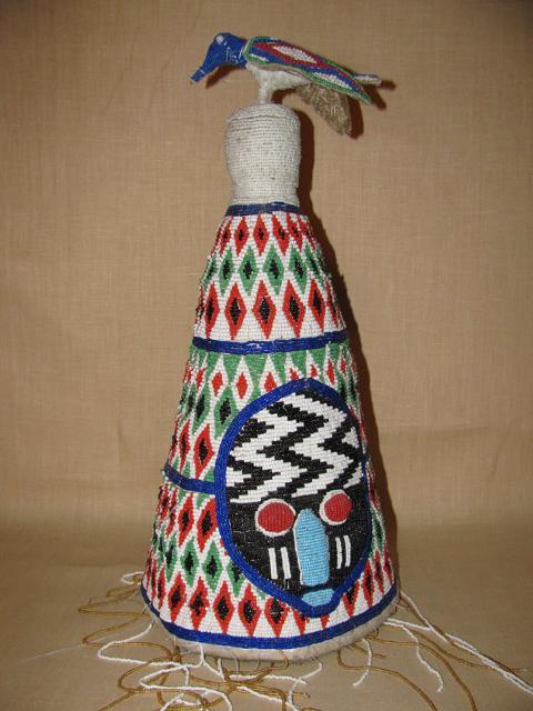 Chief's hat from the Yoruba tribe in Nigeria (ca. 1940)