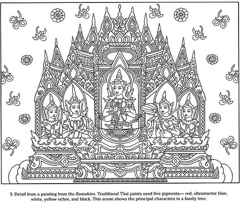 Color the World: Thailand | Coloring pages, Dance coloring pages ... | 422x500