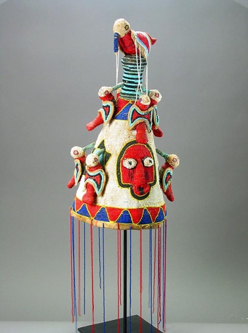 Yoruba Beaded Ade (Oba's Crown) from Southwest Nigeria (Barakat Gallery)