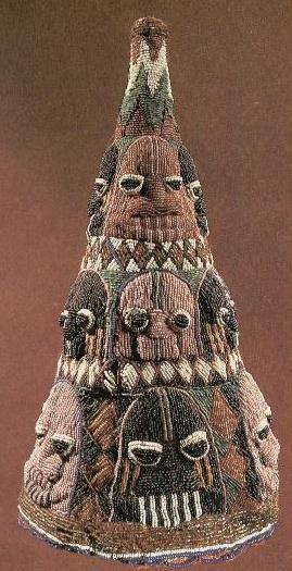 Ade Olójúmérìndilógún, (with 16 faces) from Formação da Cultura Yoruba