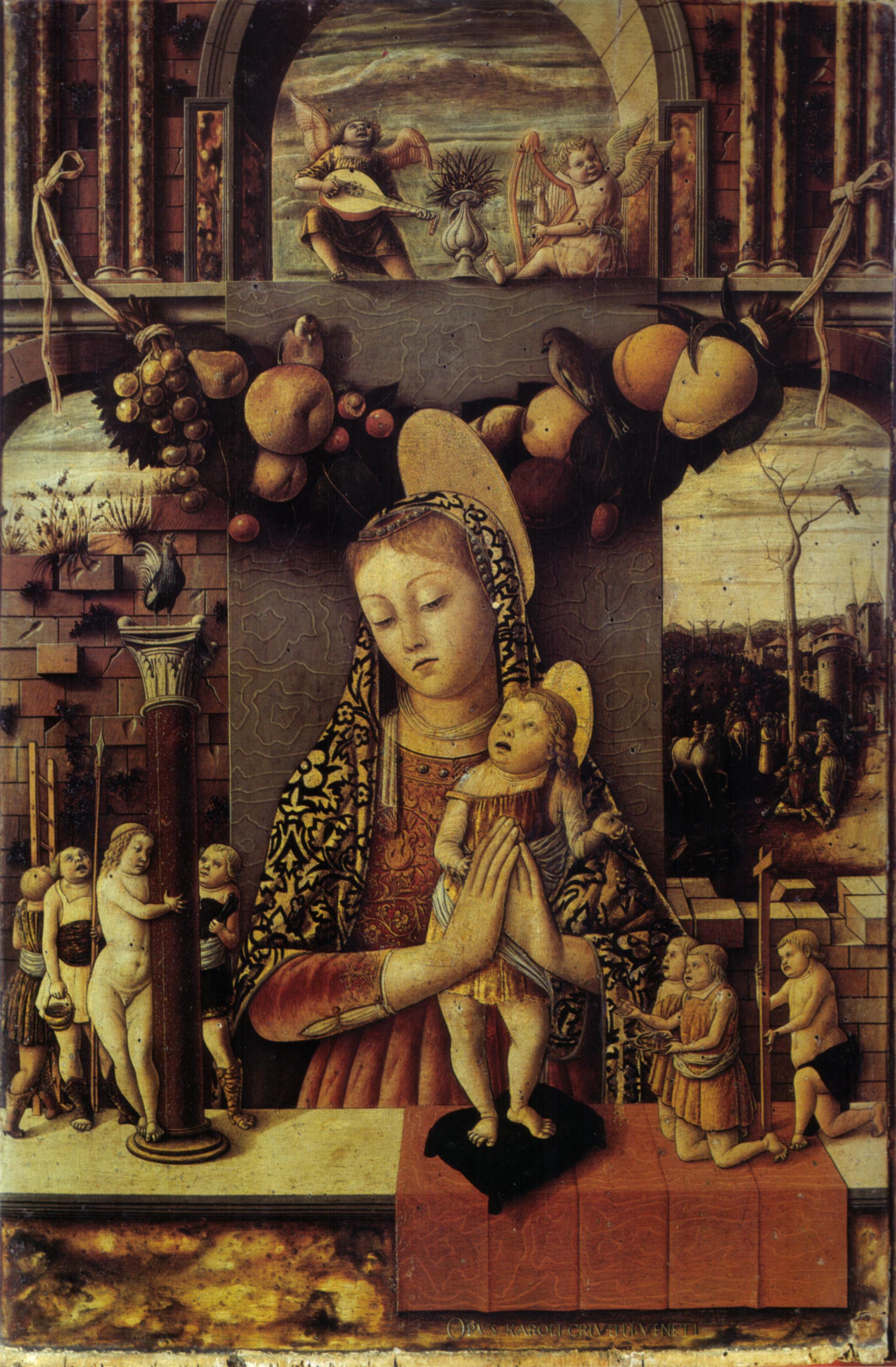 The Madonna of the Passion (Carlo Crivelli, 1460, tempera on panel)