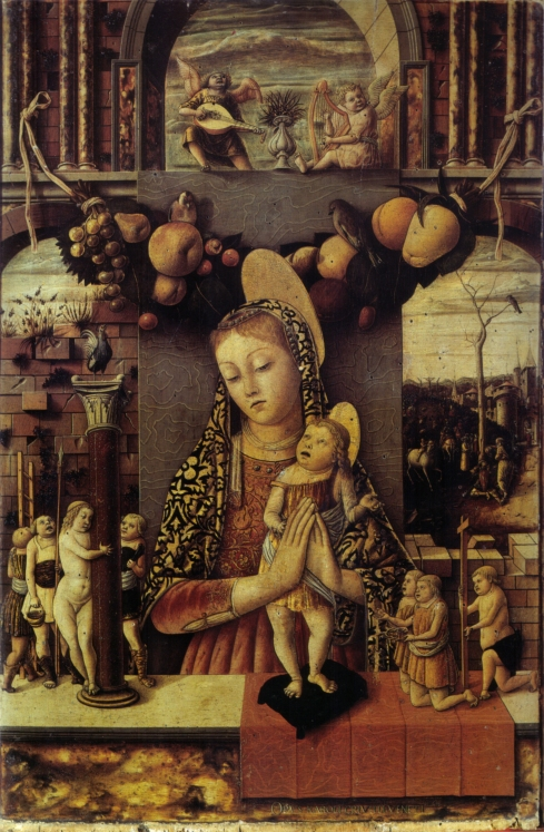 The Madonna of the Passion (Carlo Crivelli, 1460, tempera on panel)