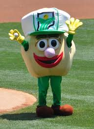 Bennie the Bean, the mascot for the Indiana Soybean Alliance