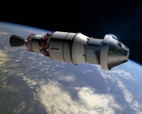 Artist's conception of Orion Spacecraft in orbit