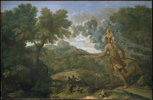 Landscape with Blind Orion Seeking the Sun (Nicolas Poussin, 1658, oil on canvas)