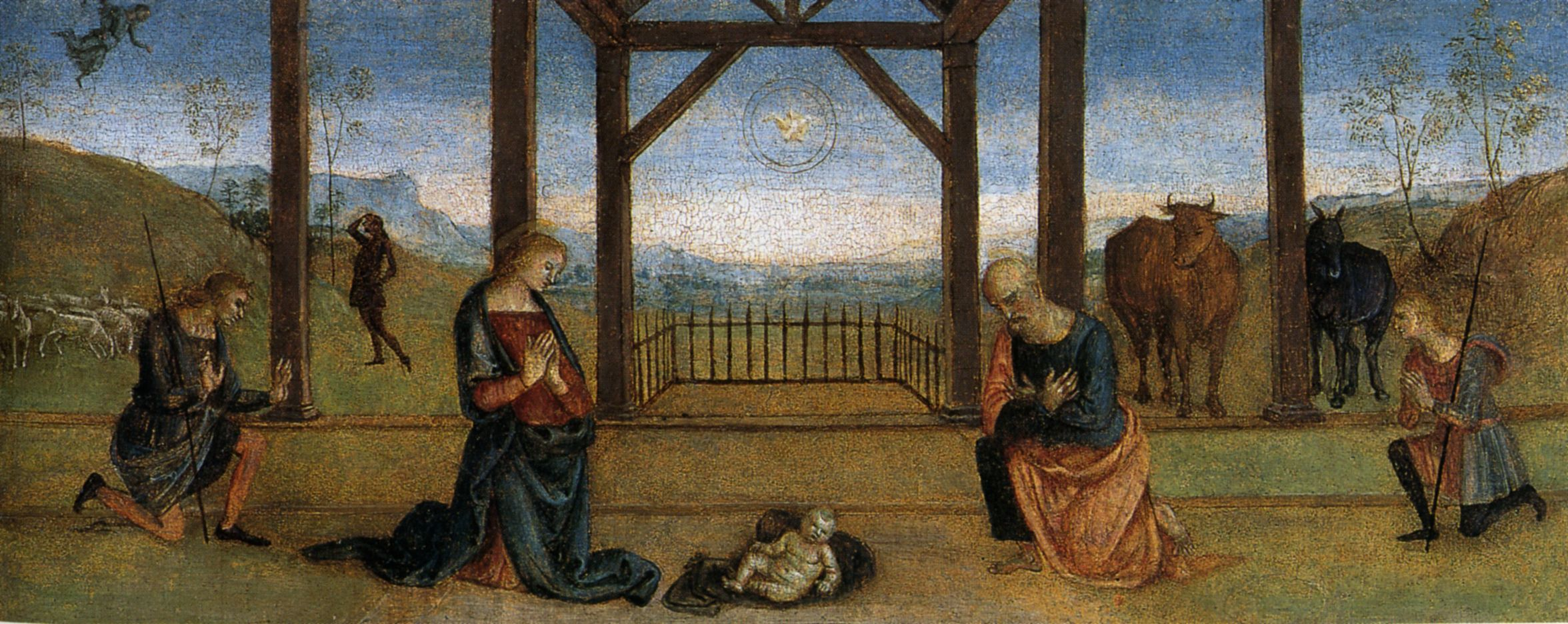 Nativity (Pietro Perugino, 1513, oil on panel)