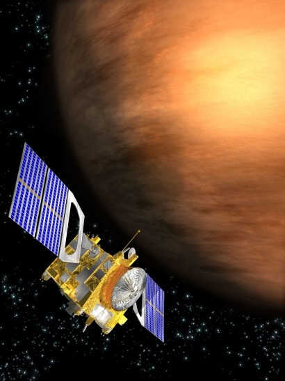 Artist's conception of Venus Express above Venus (ESA)