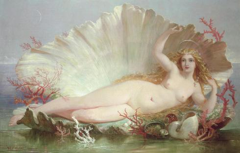The Birth of Venus (Henry Courtney Selous, 1852, oil on canvas)