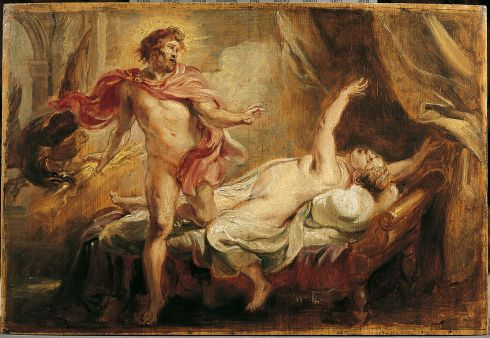 The Death of Semele (Peter Paul Rubens ca. 1640, oil on canvas)