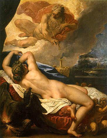 Jove and Semele (Sebastiano Ricci, 1695, oil on canvas)