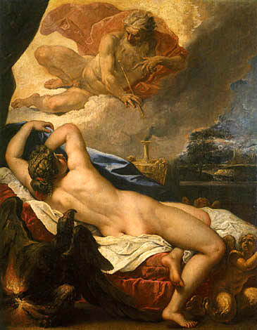 Jove and Semele (Sebastiano Ricci, 1695, oil on canvas)