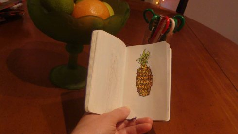Anxious Pineapple (Wayne Ferrebee, 2015, Color Pencil Sketch)