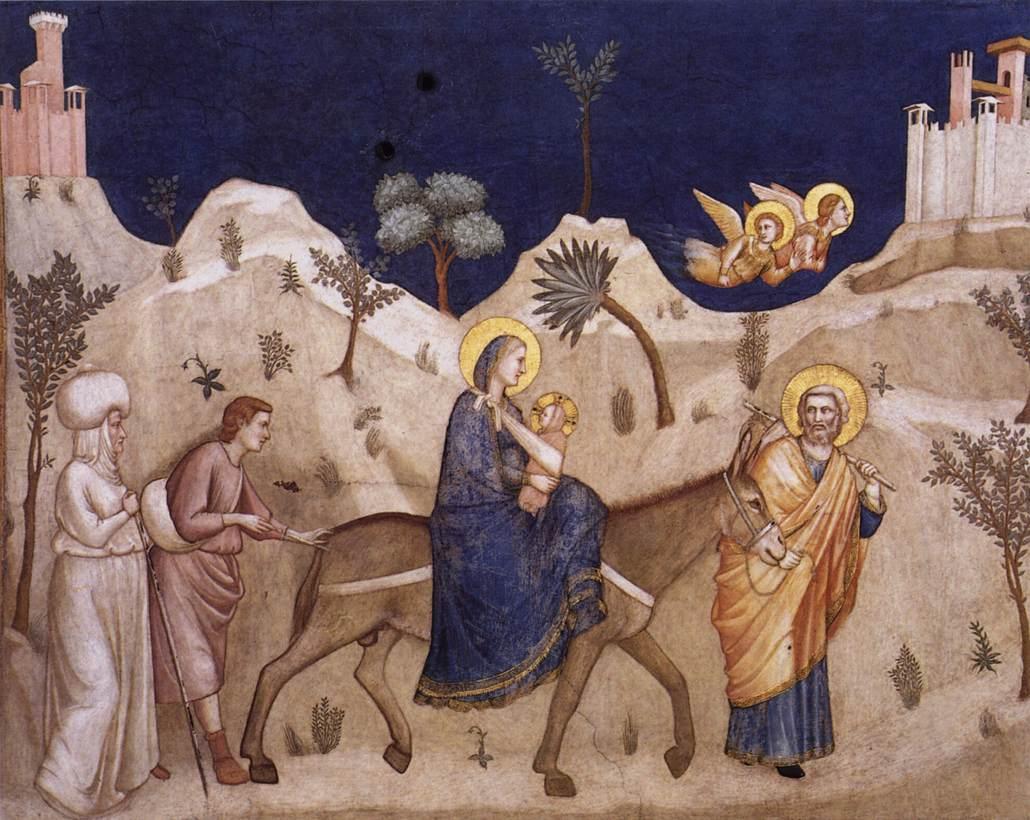 Flight into Egypt (Giotto, circa 1320, fresco)