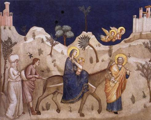 Flight into Egypt (Giotto, circa 1320, fresco)