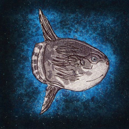Here's an awesome iron-on patch from Etsy, in case you want your own sunfish