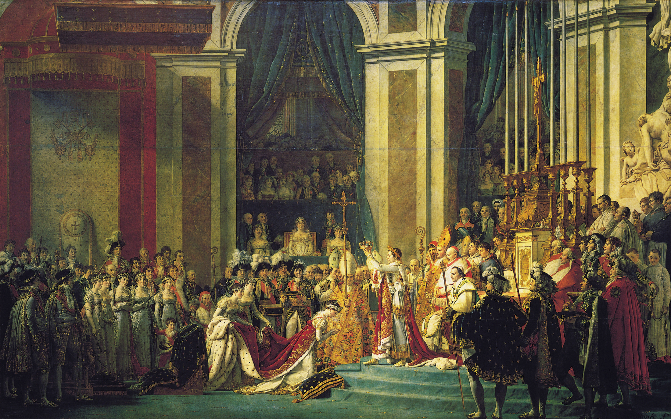 The Coronation of Napoleon (Jacques-Louis David, ca. 1807, oil on canvas)
