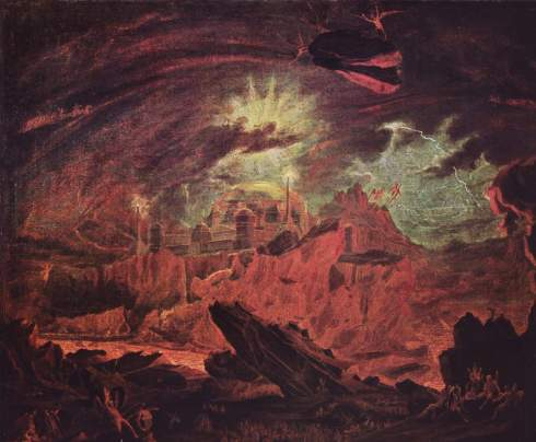 Fallen Angels in Hell (John Martin, ca. 1841, oil on canvas)