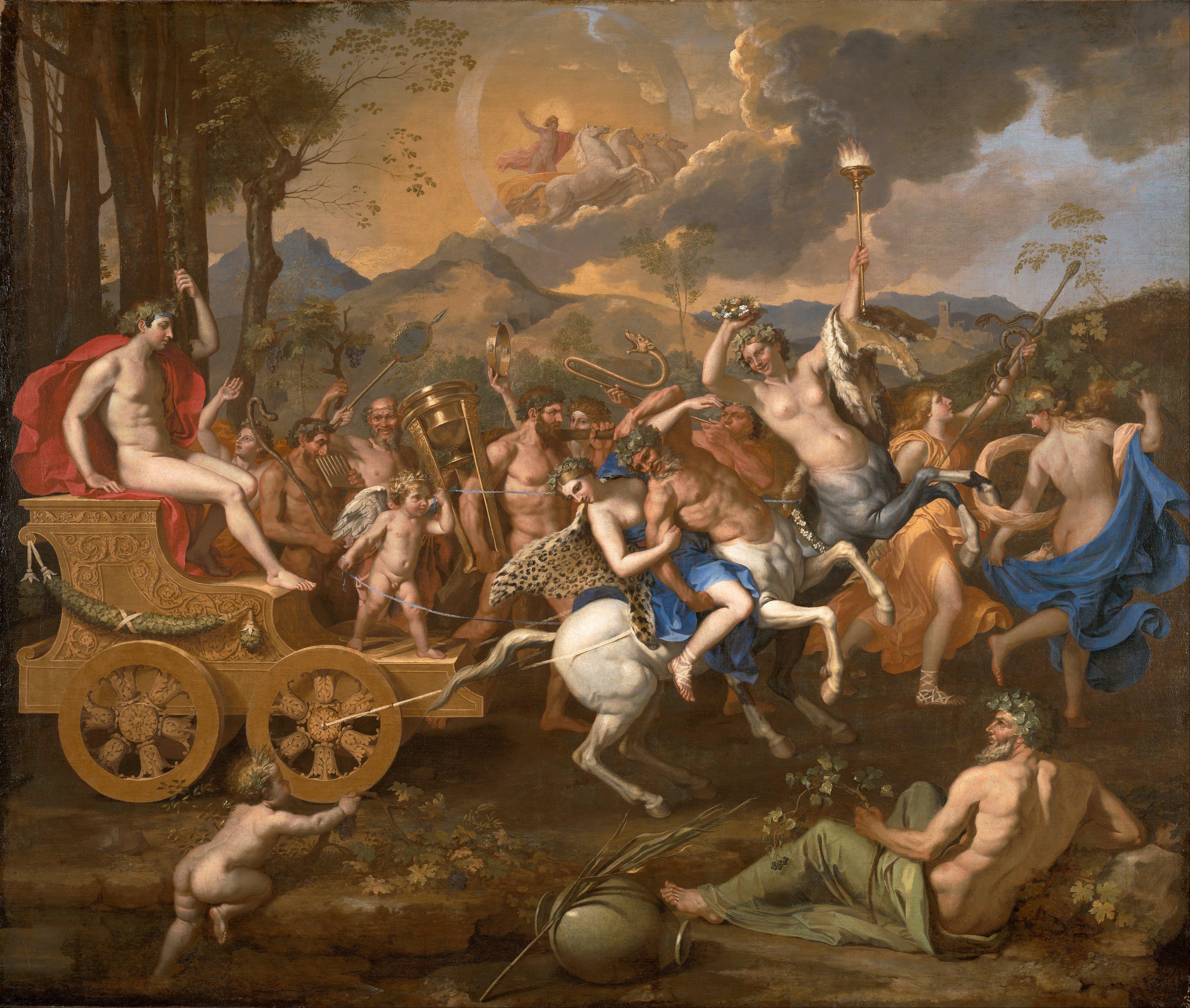 The Triumph of Bacchus (Nicholas Poussin, 1636, oil on canvas)