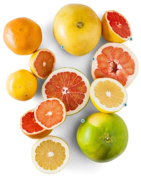 A (limited) rainbow of grapefruit hues...