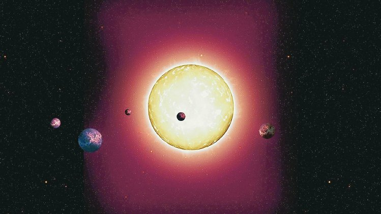 An artist's conception of 444 Kepler and its planetary system