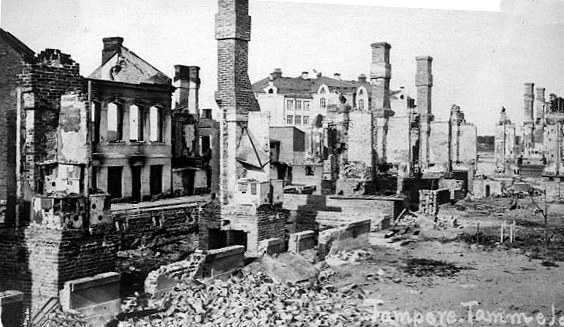 Tampere's in ruins after the Finnish civil war.