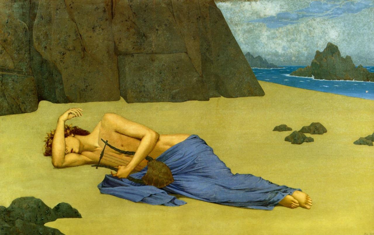 The Lament of Orpheus (Alexandre Séon, 1896, oil on canvas)