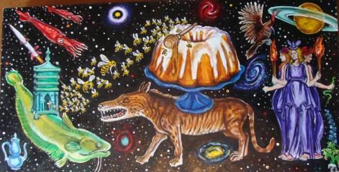 Honey Bundt Cake (Wayne Ferrebee, 2013, oil on panel)