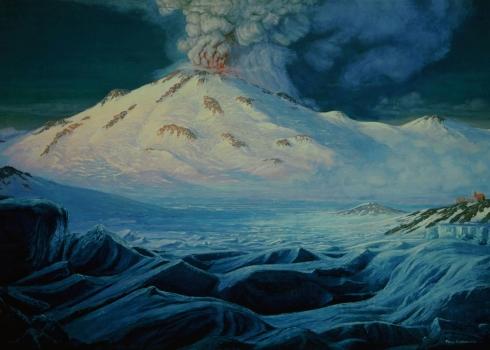 Mount Mazama at the Height of Its Glory (Paul Rockwood)