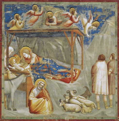 The Birth of Jesus: Scrovegni Chapel (Giotto di Bondone, ca. 1304-1306, fresco)