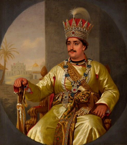 Portrait of Ghazi-ud-din Haidar, King of Oudh (Robert Home, ca. 1819, oil on canvas)
