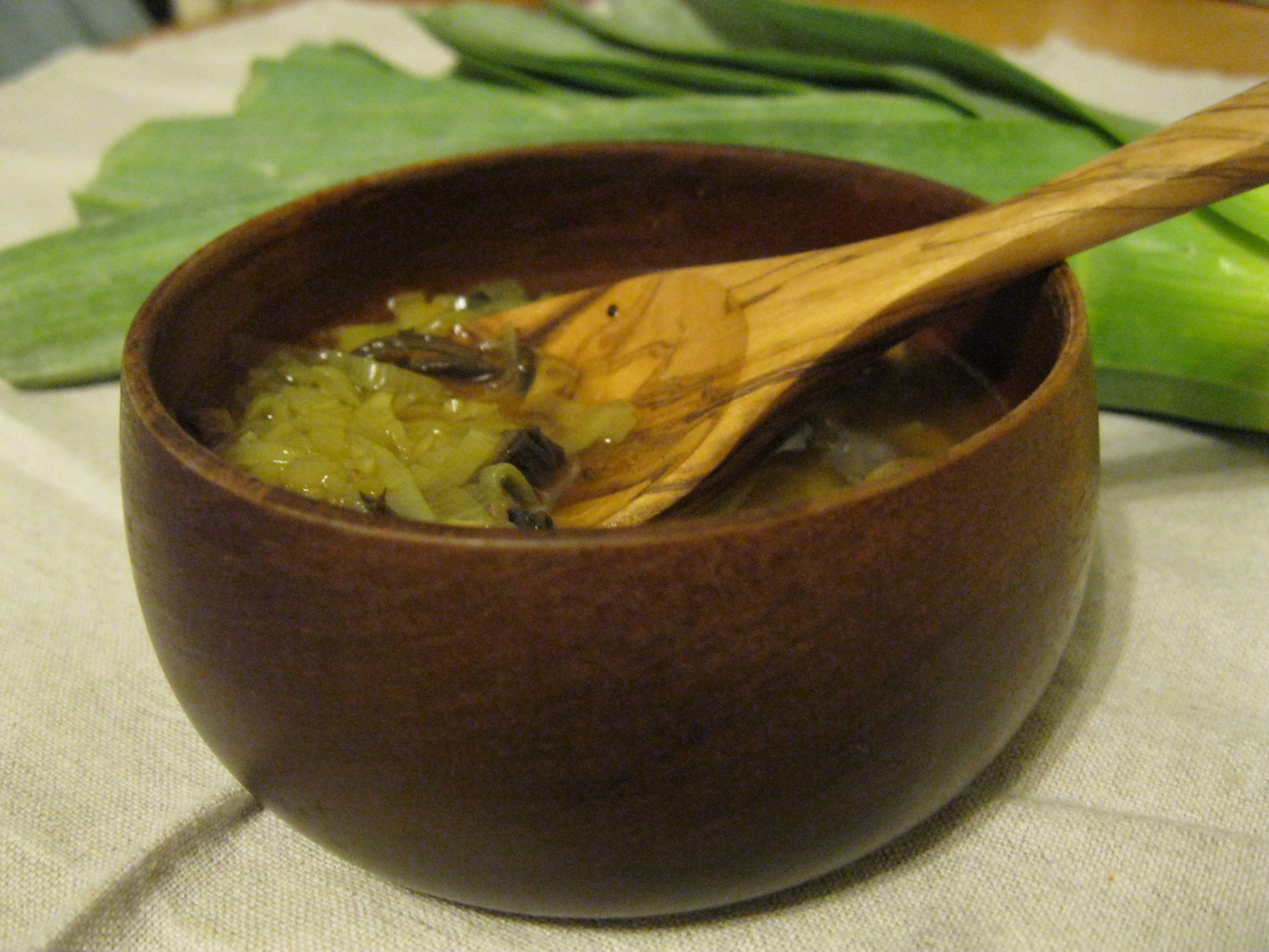 Mutton leek soup
