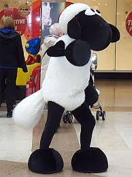 """""""Shaun the sheep"""" at a mall looking skeezy"""