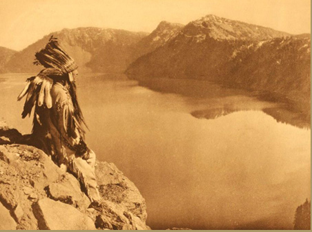 An antique photo of a Klamath chief