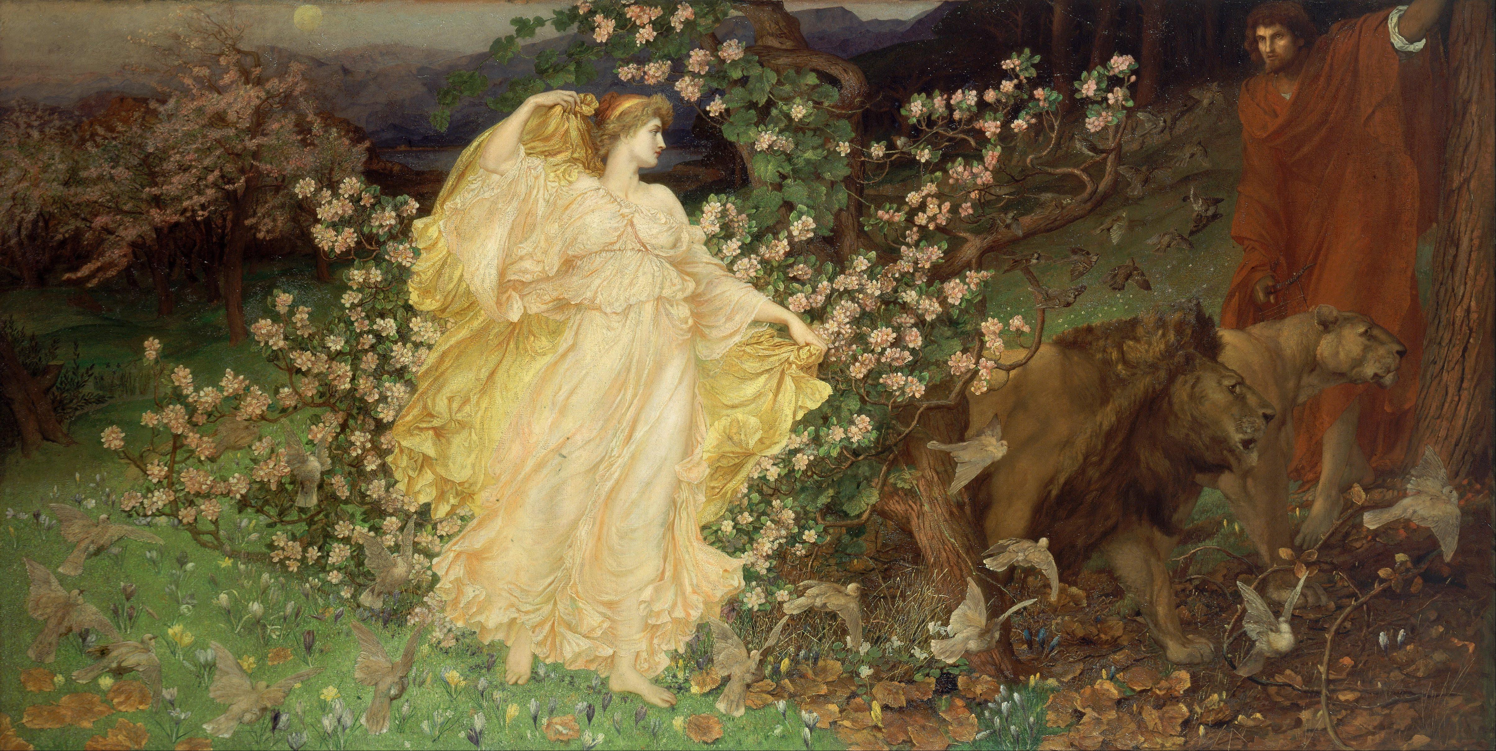 Venus and Anchises (William Blake Richmond, 1889/1890, oil on canvas)