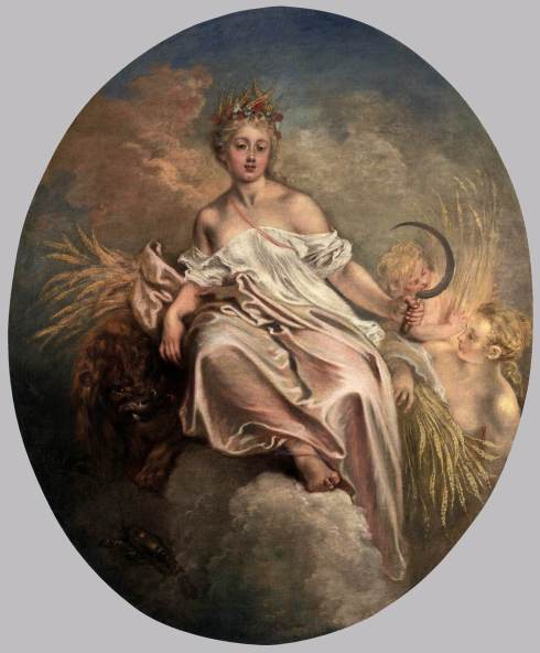 Ceres (Jean-Antoine Watteau, 1717-1718, oil on canvas)
