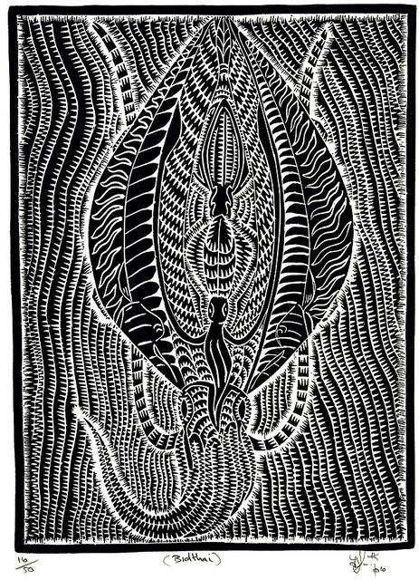 Bidthai (Joel Sam, linocut, 2006)