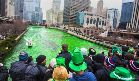 Saint Patrick's Day in Chicago Illinois
