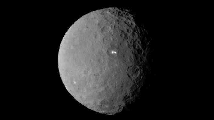This image of Ceres was taken by NASA's Dawn spacecraft on Feb. 19 from a distance of nearly 46,000 kilometers (29,000 miles)