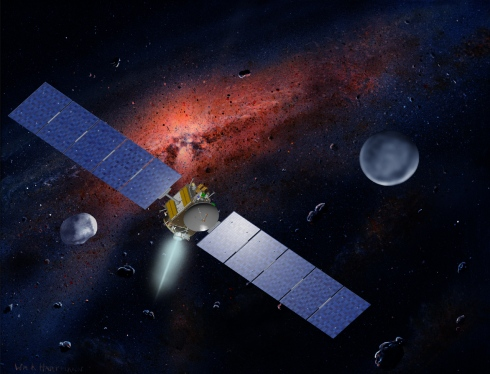 Artist's conception of the Dawn spacecraft