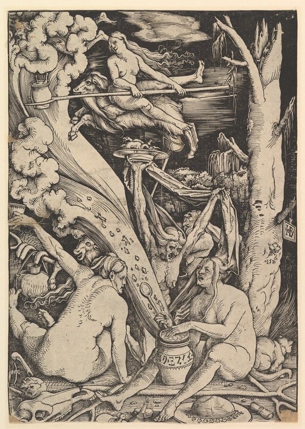 Witches' Sabbath (Hans Baldung Grien, 1510, woodcut)