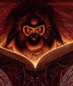 Librarian of the Discworld as he appears in The Discworld Companion, illustrated by Paul Kidby (Copyright Pratchett and Kidby )