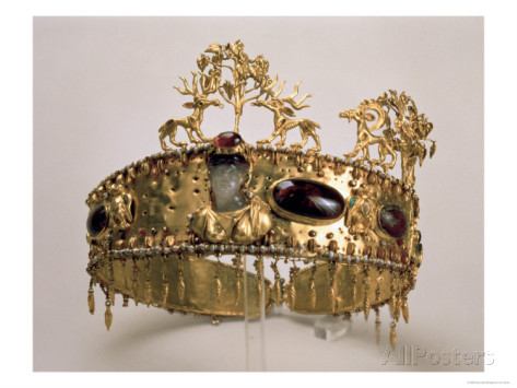 Sarmatian Diadem found in the burial mound at Khoklach