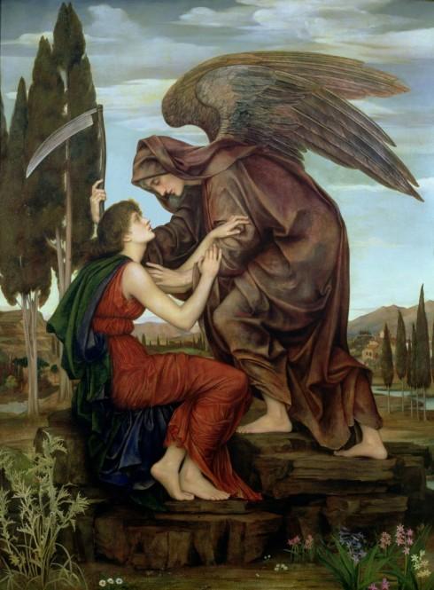 Angel of Death (Evelyn De Morgan. 1881, oil on canvas)