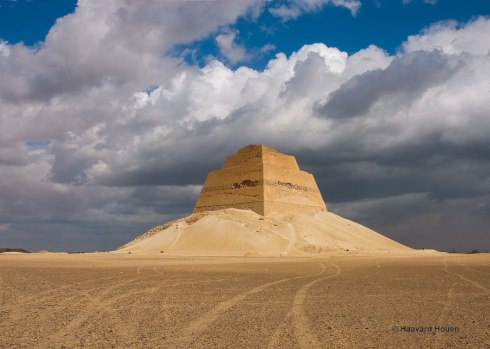 Snefru's Meidum Pyramid in Egypt near the Fayoum