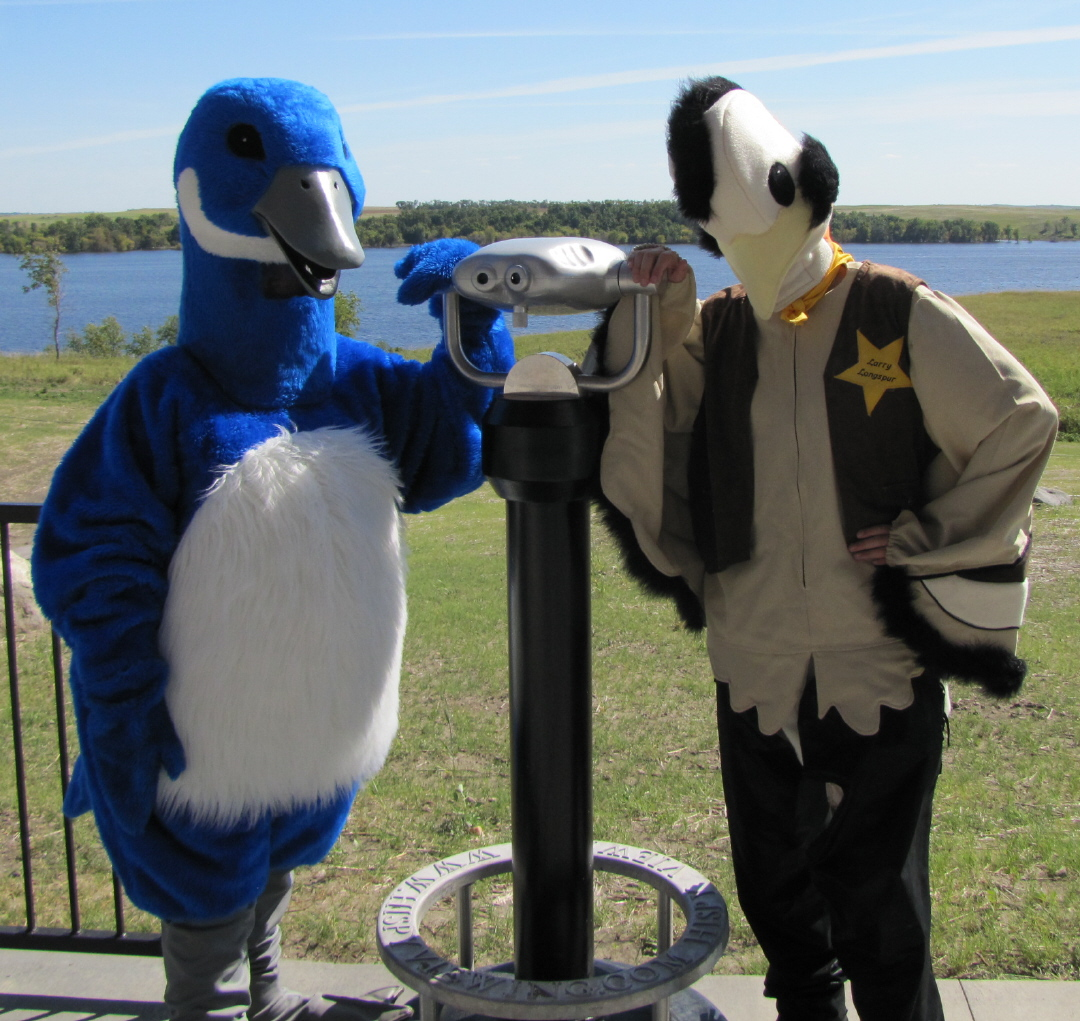 Honker the goose and Larry Longspur
